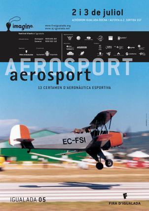 Cartell Aerosport Imagina festival d'estiu d'Igualada, juliol 2005