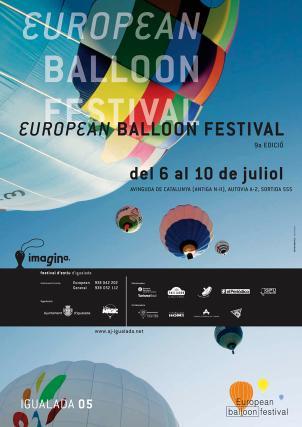 Cartell European Ballon Festival Imagina festival d'estiu d'Igualada, juliol 2005