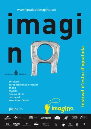 Cartell Imagina festival d'estiu d'Igualada, juliol 2006