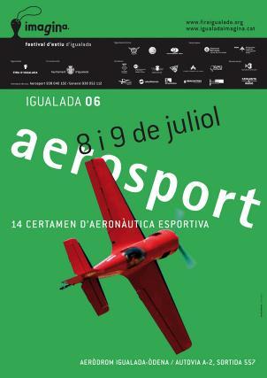 Cartell Aerosport Imagina festival d'estiu d'Igualada, juliol 2006