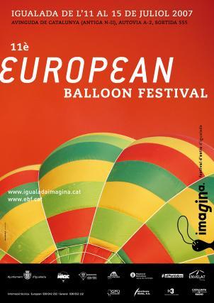 Cartell European Ballon Festival Imagina festival d'estiu d'Igualada, juliol 2007