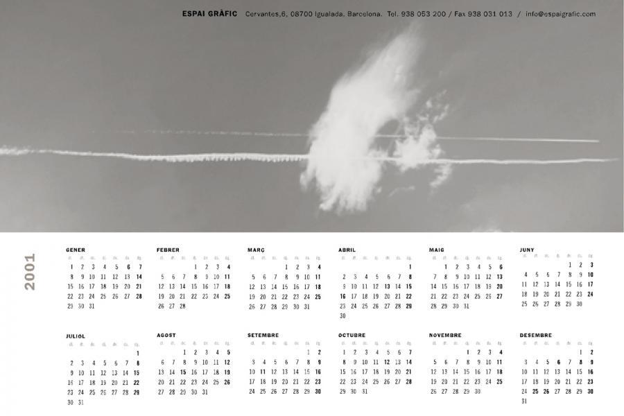 Calendari Espai Gràfic 2001