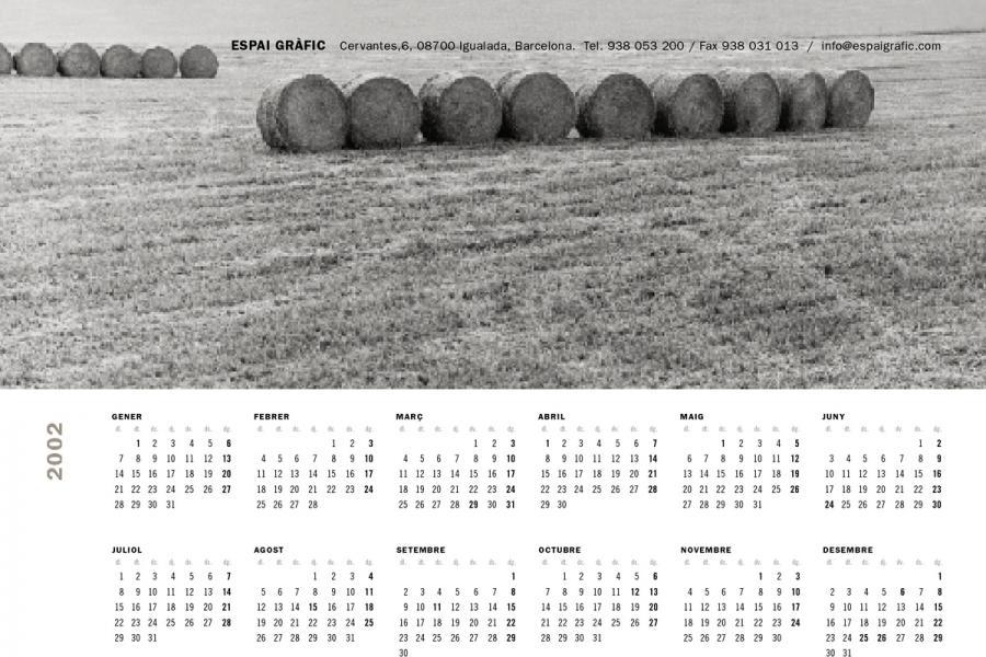 Calendari Espai Gràfic 2002