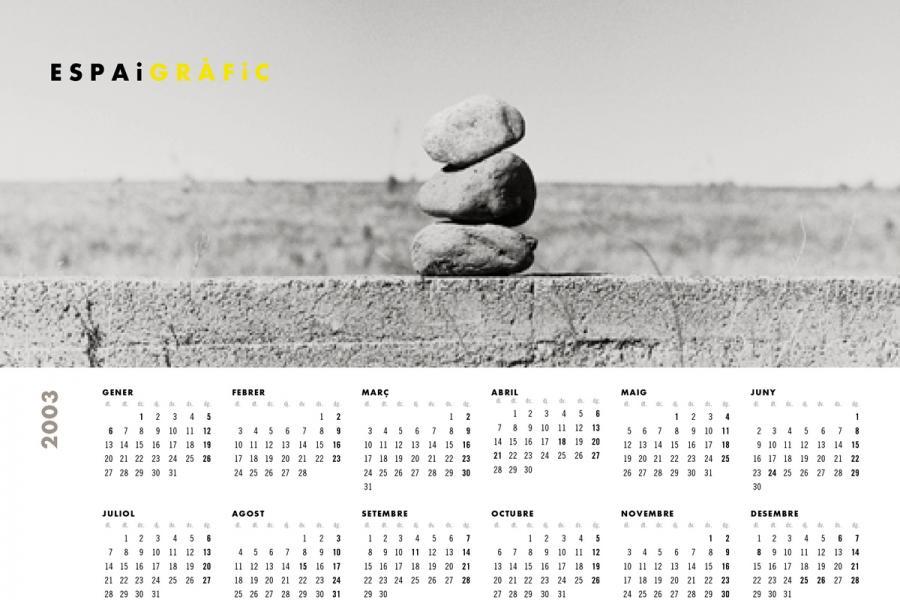 Calendari Espai Gràfic 2003
