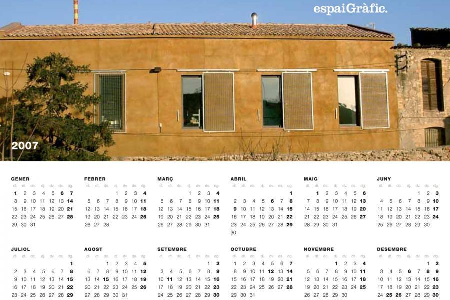 Calendari Espai Gràfic 2007