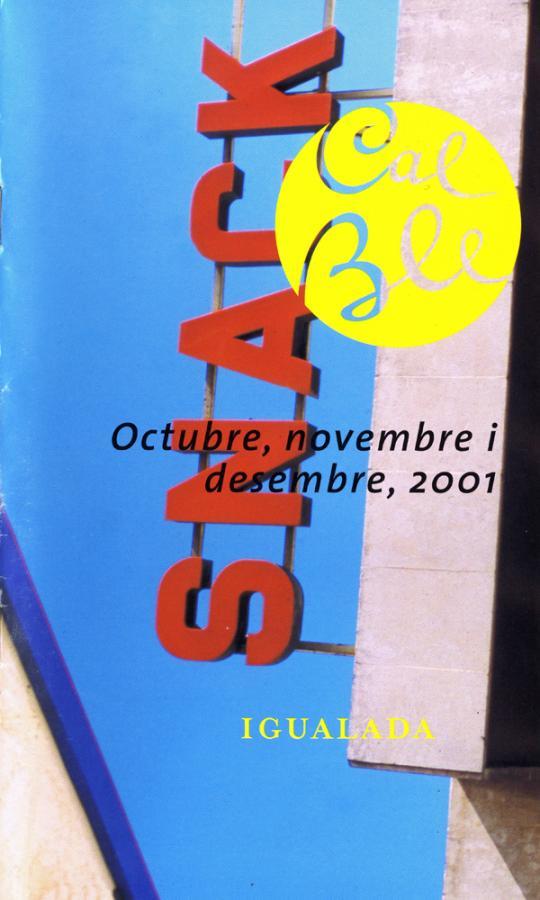 Octubre, novembre i desembre 2001