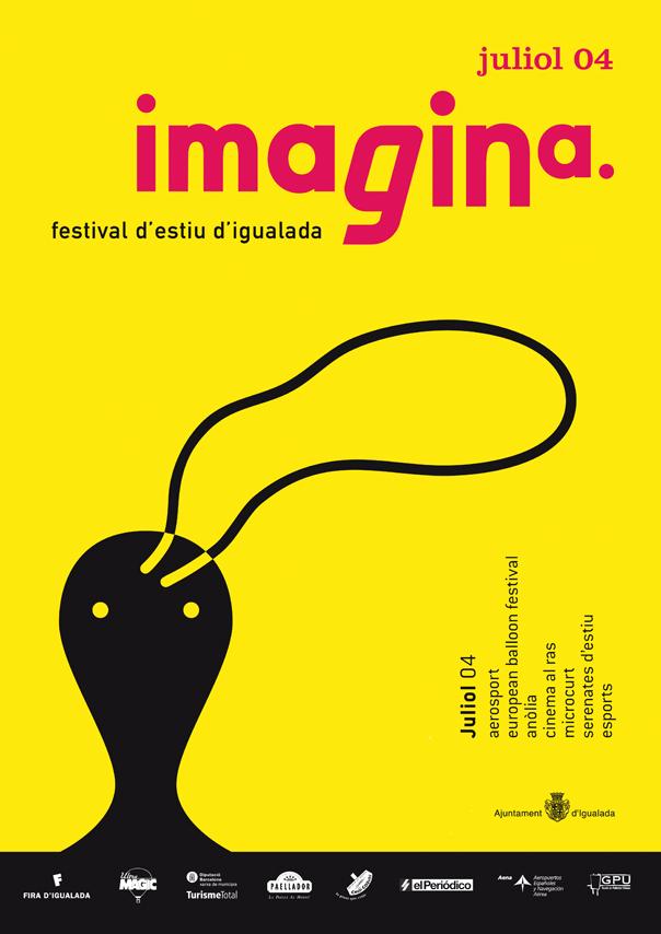 Cartell Imagina festival d'estiu d'Igualada, juliol 2004