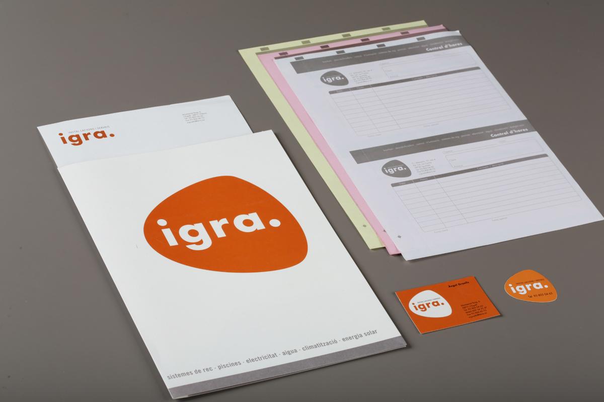 Logotip papereria Istal·lacions Grells