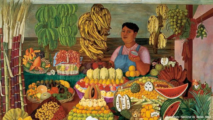 La vendedora de frutas, 1951 es el cuadro más famoso de Olga Costa